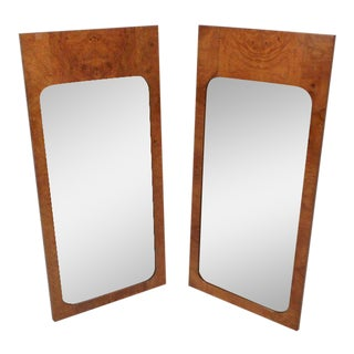 Vintage Modern Burl Mirrors by Milo Baughman - a Pair For Sale