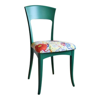 21st Century Vintage Italian Side Chair With Josef Frank Nippon Fabric For Sale