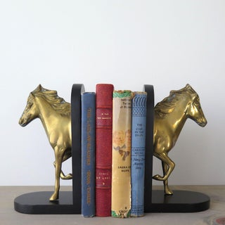 Vintage Brass Horse Bookends - a Pair Preview