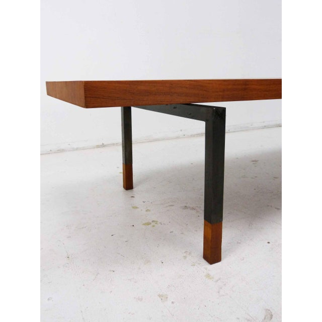 Teak & Steel Coffee Table by Johannes Aasbjerg for Illums Bolighus For Sale In Denver - Image 6 of 8