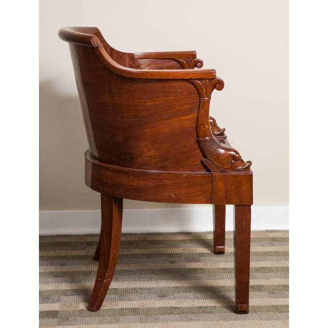 Early 19th Century Early 19th Century Empire Solid Mahogany Desk Chair For Sale - Image 5 of 9