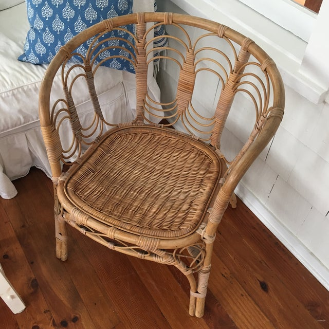 Vintage Rattan Chair For Sale - Image 10 of 10