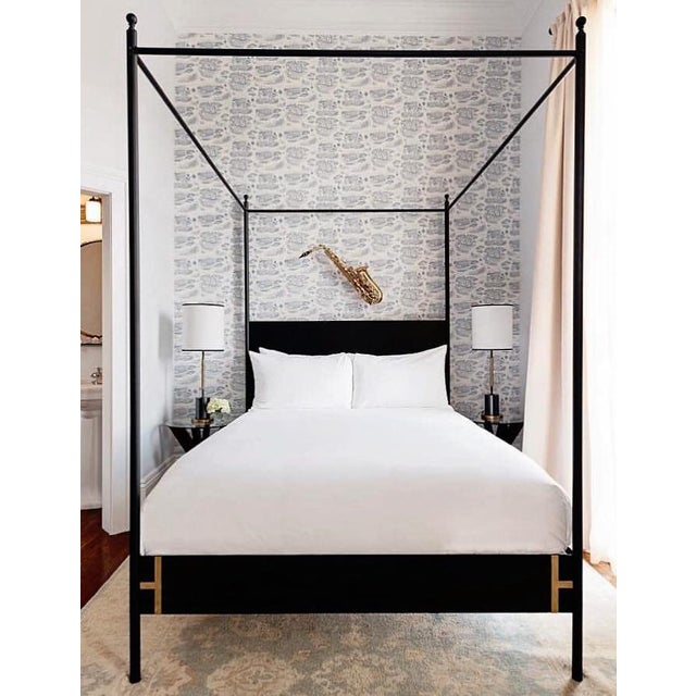 Metal Contemporary Josephine Canopy King Size Bedframe For Sale - Image 7 of 8