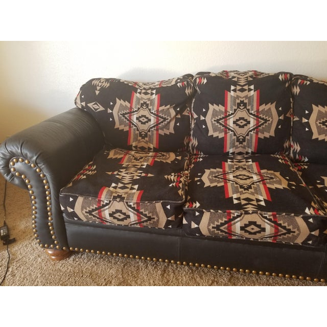 Pendleton Wool Santa Fe Style Southwestern Sofa For Sale In Phoenix - Image 6 of 6