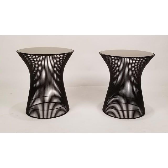 Early Bronze Side Tables by Warren Platner for Knoll, 1966 - a Pair For Sale In Dallas - Image 6 of 9