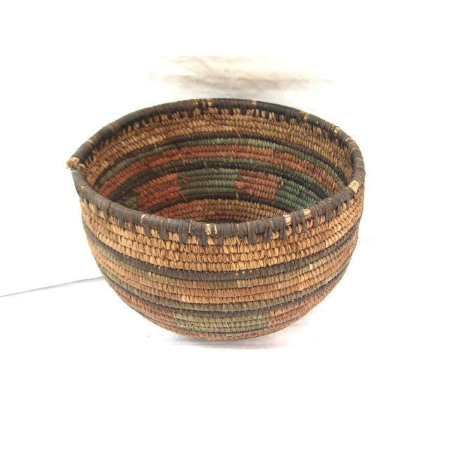 Native American Hand Woven Basket For Sale - Image 5 of 7