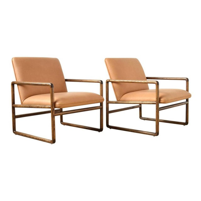 Pair of Ward Bennett Lounge Chairs by Brickel For Sale - Image 10 of 10