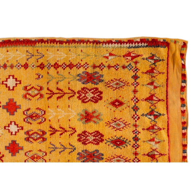 """Textile Antique Moroccan Rug, 3'10"""" X 6'2"""" For Sale - Image 7 of 10"""