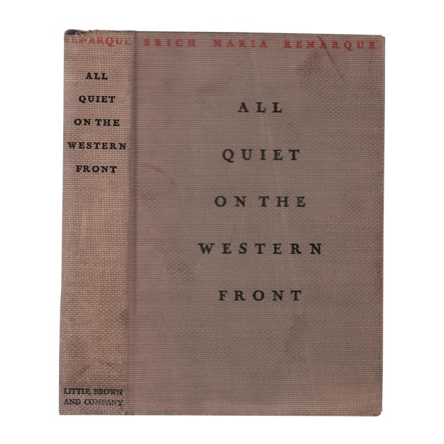"""1929 """"All Quiet on the Western Front"""" Collectible Book For Sale"""