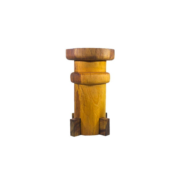 2010s Contemporary Tito Drink Table, Natural Solid Burl by Labrica For Sale - Image 5 of 5