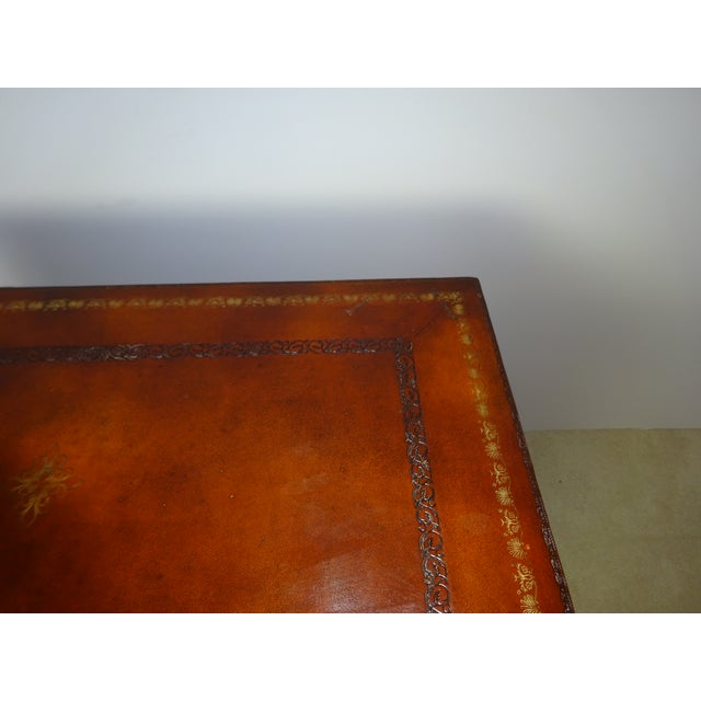Maitland Smith Leather Faux Book Cabinet For Sale - Image 10 of 11