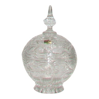 European Crystal Domed Lidded Dish