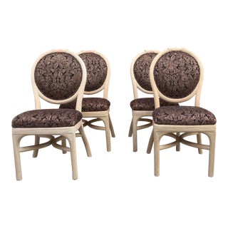 Set of 4 Pencil Reed Side Chairs For Sale