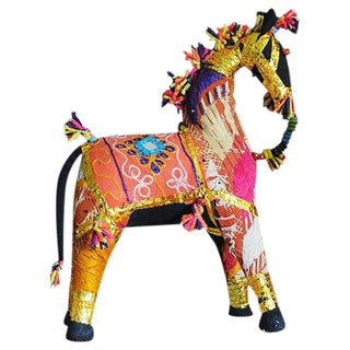Indian Embroidered Shisha Horse For Sale