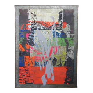 """It's a Pleasure to Serve You Acrylic Mixed Media Painting by Richard Milani 62"""" For Sale"""