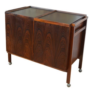 Danish Rosewood Bar Cart by Nies Erik Glasdam Jensen