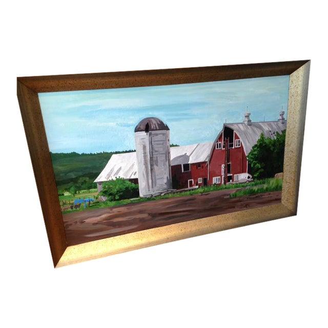 """A Farmer's Life"" Original Acrylic Painting For Sale"