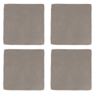 Once Milano Linen Napkins in Taupe - Set of 4 For Sale