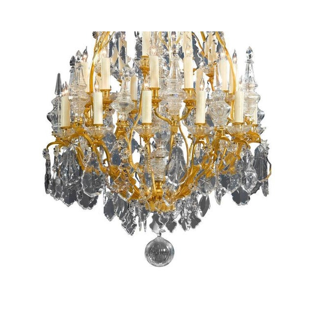 Hollywood Regency Thirty-Light Baccarat Crystal Chandelier For Sale - Image 3 of 5