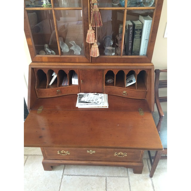 Chippendale Chippendale Yew Wood Secretary For Sale - Image 3 of 4