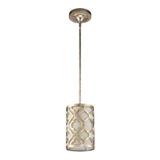 Arabella Kitchen Metal Mini Pendant, Weathered Silver For Sale