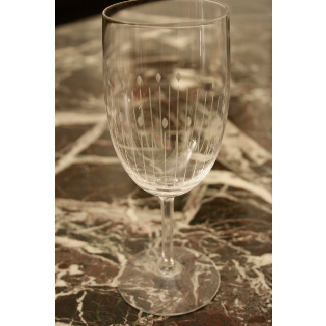 Etched Crystal Wine Glasses From Sweden - Set of 12 - Image 5 of 8
