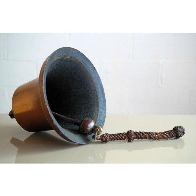 1930s Large Danish Midcentury Brass Ship's Bell For Sale - Image 5 of 7