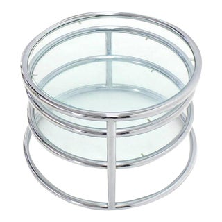 Mid-Century Modern Circular Adjustable Coffee Table For Sale