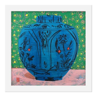 "Small ""Persian Vase"" Print by Jelly Chen, 16"" X 16"" For Sale"