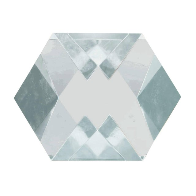Modern Large Faceted Lucite Sculpture by Amparo Calderon Tapia For Sale - Image 3 of 6