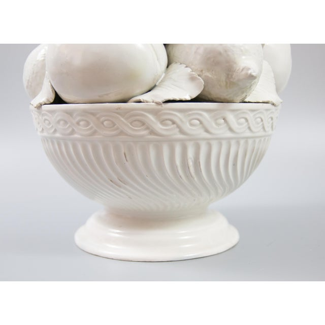 Italian White Creamware Fruit Topiary Centerpiece For Sale In Houston - Image 6 of 11