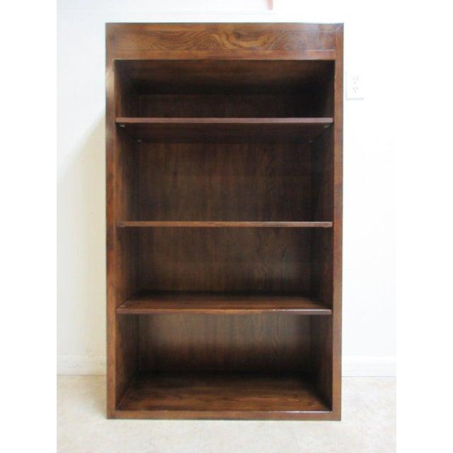 Campaign Henredon Oak Campaign Scene One Book Case Dresser For Sale - Image 3 of 8
