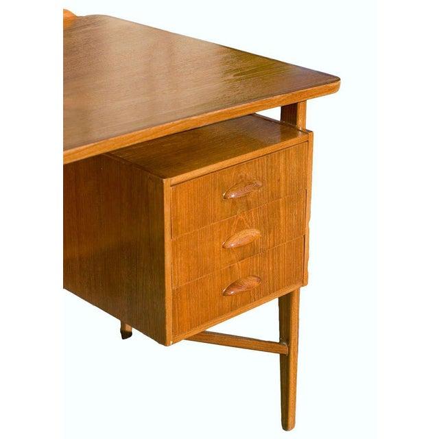 Danish Teak Desk in the Style of Kai Kristiansen For Sale - Image 4 of 8
