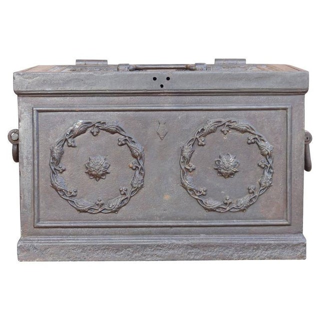 19th Century Antique Decorative Iron Safe For Sale - Image 4 of 10
