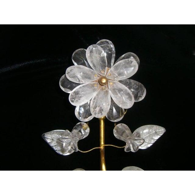Maison Baguès Rock Crystal and 23K Gold Leaf Two-Light Sconces - a Pair For Sale - Image 4 of 11
