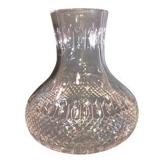 * Large Cut Glass Lead Crystal Hurricane Replacement Lamp Shade Vintage Hollywood Glam For Sale