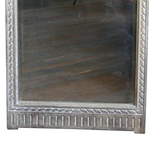 Antique White Antique French Mirror For Sale - Image 8 of 10
