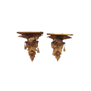 Late 19th Century Carved Eagle Brackets- a Pair For Sale