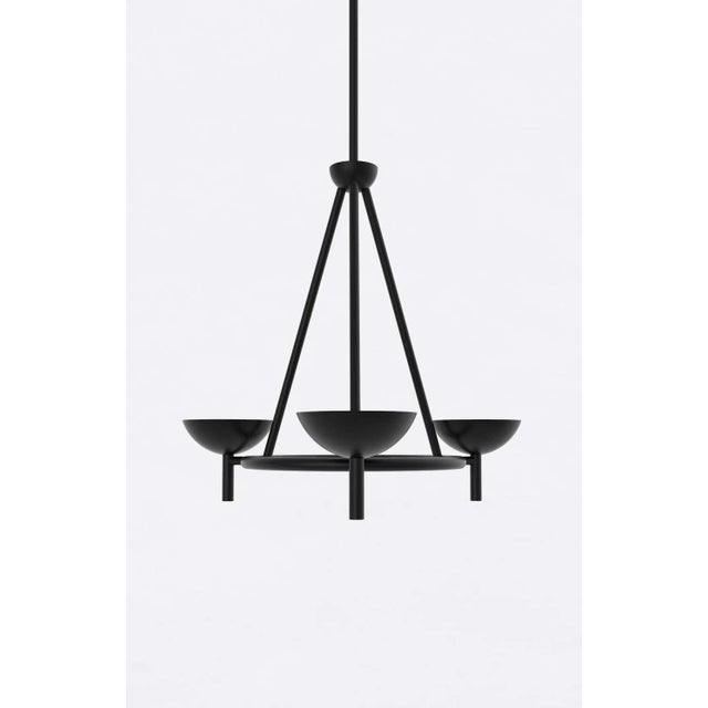 Material Lust Contemporary 200 Chandelier in Blackened Brass by Orphan Work, 2020 For Sale - Image 4 of 6