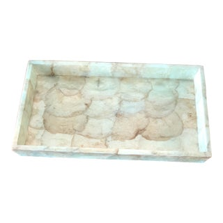 Pigeon & Poodle Andria Light Green Shell Medium Tray For Sale