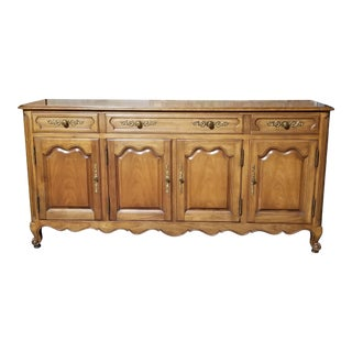 Mid 20th Century Kindel Louis XVI Cherry Sideboard Credenza For Sale