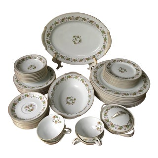 Vintage, 60 Years Old Noritake China 5215 Cordova, Dinner 47 Pieces Service Set For Sale