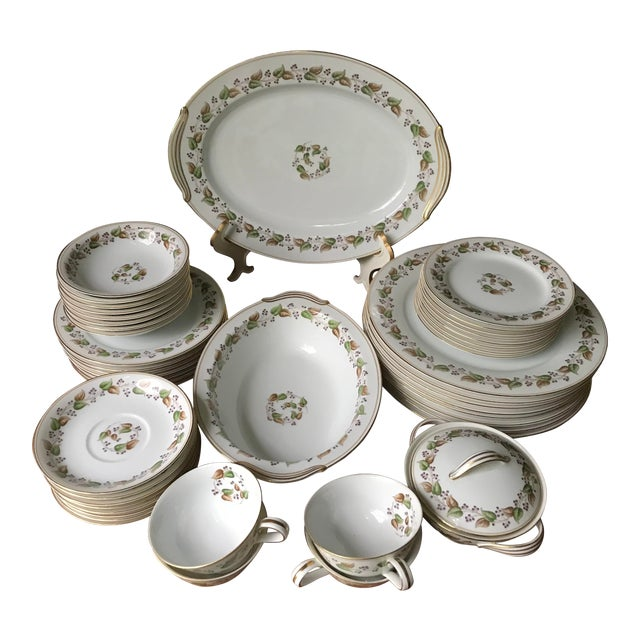 Vintage, 60 Years Old Noritake China 5215 Cordova, Dinner 52 Pieces Service  Set for 8 ,Reduced Final