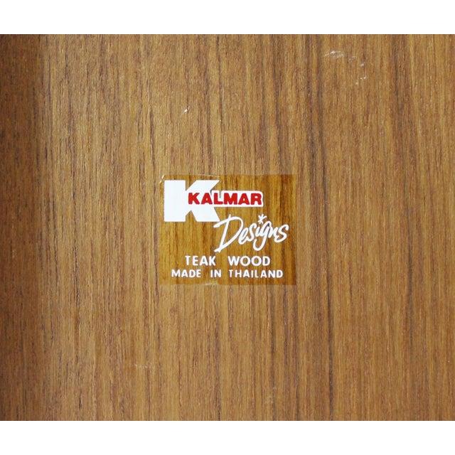 Wood Kalmar Teak Wood Tambour Storage Box CD Organizer Danish Modern For Sale - Image 7 of 8