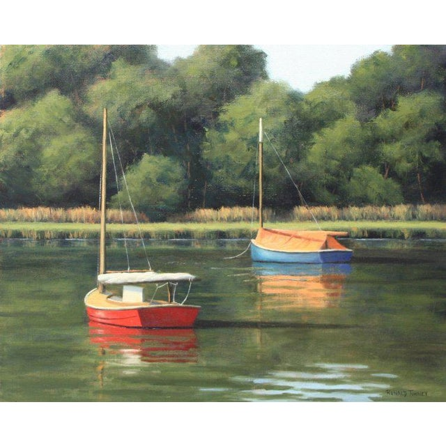 Canvas Ronald Tinney, Summer Colors Painting, 2018 For Sale - Image 7 of 7