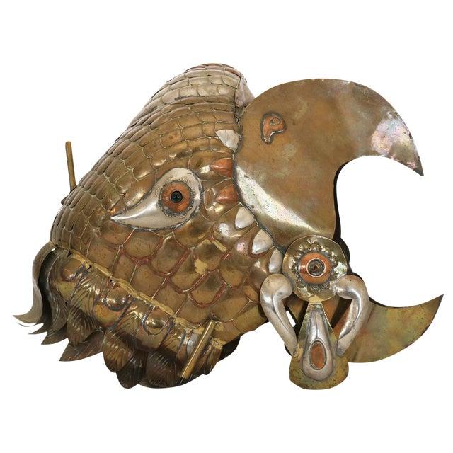 Sergio Bustamante Decorative Helmet of Eagle For Sale