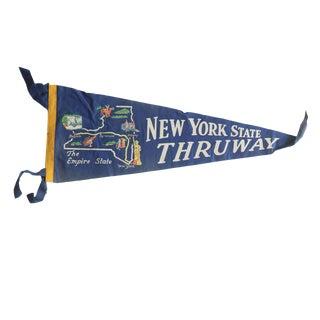 Vintage New York State Thruway Felt Flag Pennant