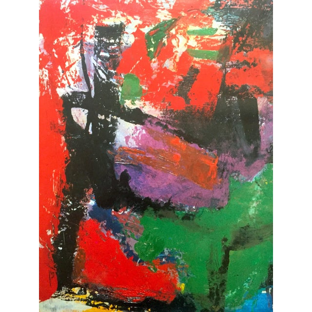 """1980s Franz Kline Rare Vintage 1987 Abstract Expressionist Lithograph Print """" Pafinvest Studio Marconi """" Italian Exhibition Poster For Sale - Image 5 of 13"""
