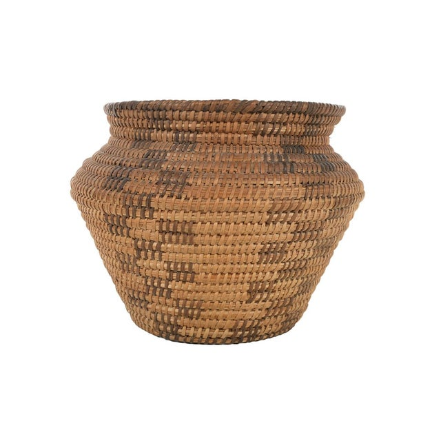 Antique Mission Indian Basket Circa 1900 For Sale - Image 4 of 9