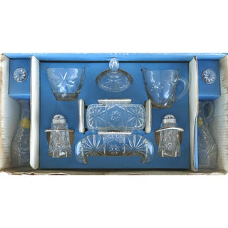 Anchor Hocking Prescut Early American Glass Serving Set-Set of 7 Preview